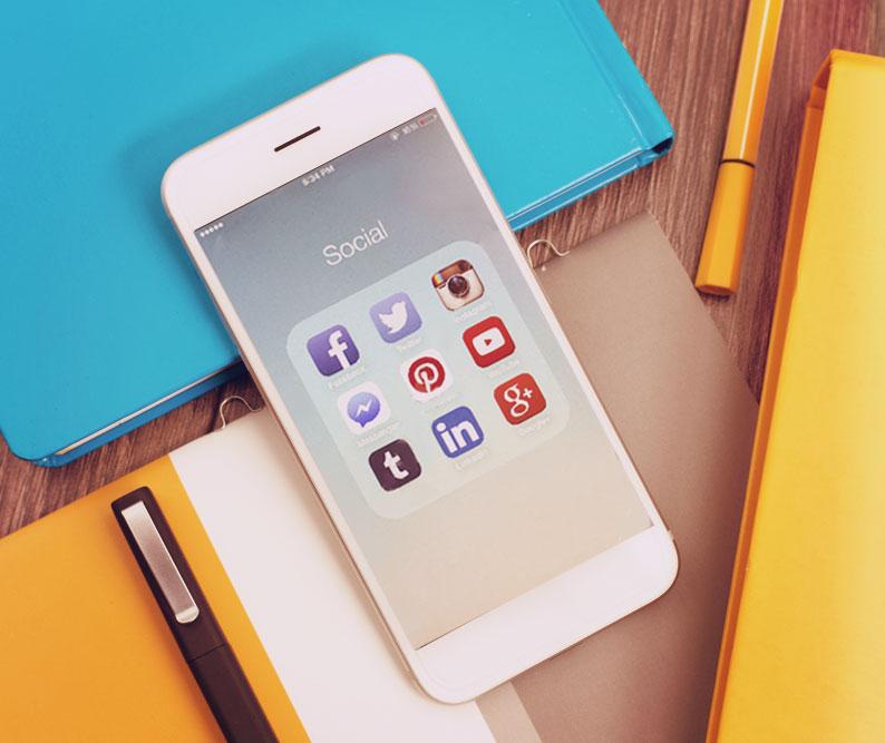 Social media platforms on iPhone